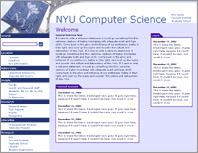 I designed the site for NYU's Computer Science department.