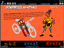 Mud Sweat and Gears site for MSN - MSN used to be a  BBC style collection of chanels of content. our site made heavy use of the new web technology, Flash. This was a mammoth project we cranked out in a month.