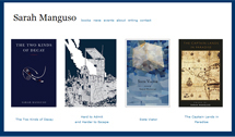 Site and identity design for the author Sarah Manguso. If you haven't read her, then you might be illeterate.