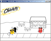 Chiclets screen saver